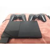 Playstation 2 Slim Con Lente Nuevo + 2 Controles + Memoria