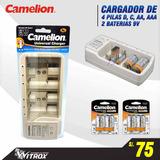 Cargador Camelion Grande De Pilas , C, D, Aa, Aaa, 9v,