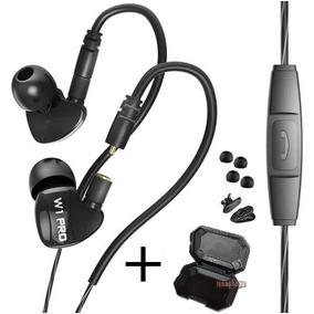 Fone W1 Pro In Ear Profissional Monitor De Palco Cabo Dest.