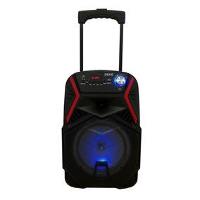 Caixa De Som Amplificada Bluethoot Bateria Com Rodinha
