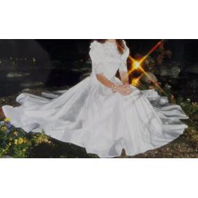Vestido De 15/novia De Seda Natural Con Guipure Francés