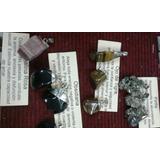 Dijes Piedra Ojo De Tigre, Pirita, Turmalina Rosa, Obsidiana