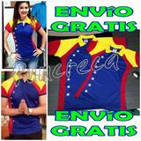 Franela Tricolor Bandera Venezuela Deportiva Dama Caballero