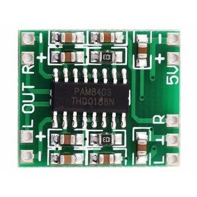 5 Pcs - Módulo Amplificador Som Estéreo 2ch 3w + 3w Pam8403