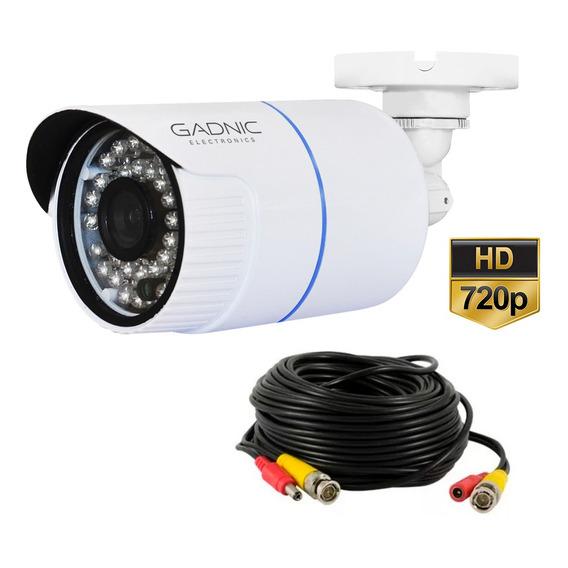 Camara Cctv 720p Con Cable De Video Y Corriente De 20mts