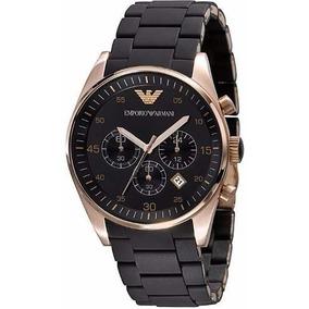 26c9dc384aa Relógio Empório Armani Ar0629 Preto Borracha - Relógios De Pulso no ...
