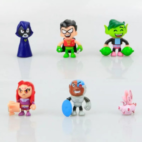 Teen Titans Go Jovens Titãs Em Ação Kit 6 Boneco