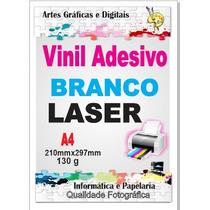 Vinil Adesivo Branco Brilhante P/impressora Laser Brindes