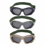 3x Óculos Tático De Proteção Telado Amador Treino Airsoft