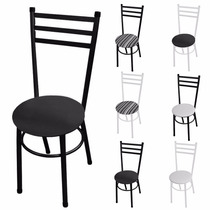 Cadeira Poltrona Natal Para Mesa Sala De Jantar Cozinha Aço