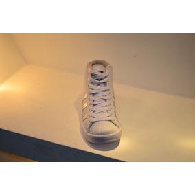 Botin Deportivo adidas Blanco Con Plata Damas