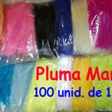 Plumas Marabú 100 Unid De 12 Cm