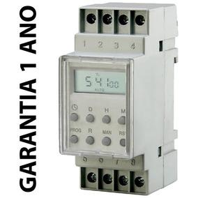 Timer Temporizador Digital Trilho Quadro 220v 16 Prog