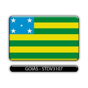 Adesivo Automotivo Bandeira Estado Goias Resinado