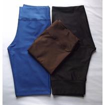 Kit 3 Bermudas Legging Plus Size Cores Lisas Atacado Revenda