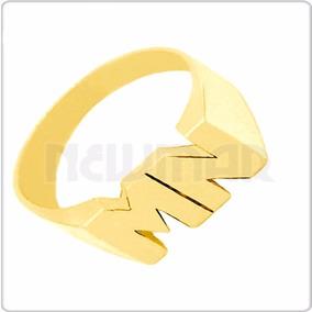 Anillo Sello Oro 18 K Calado Con 2 O 3 Iniciales 4grs Mujer