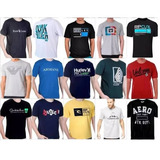 Kit 10 Camisa Masculina Hollister Quiksilver Oakley Armani