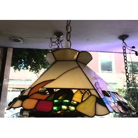 Lámpara Emplomada Estilo Tifany Hexagonal Chica