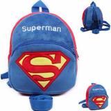 Mochila Guia Segurança Coleira Criança Bebe Disney Superman