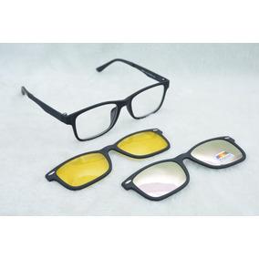 6ce2ee8e78f6b Armação Óculos De Grau Clip On 3 Em 1 Polarizado S027