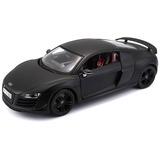 Audi R8 Gt Mate Negro, Coche A Escala 1:18 / Maisto Premier