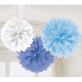 Flores Papel De Seda, Pompones, Panales - Color Beige