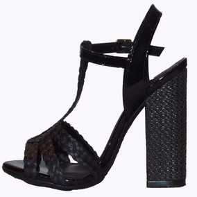 Plataforma Meia Pata Sapato Melissa Strap Salto Alto Ad Pto