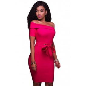 Vestido Fiesta Rosa Elegante Ropa Mujer Envío Gratis