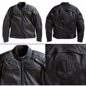 Jaqueta Harley Davidson Couro Original Old Skull Ou 110 Anos