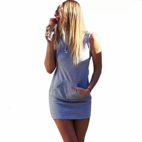 Vestido Moda Verano Con Gorro Algodón Delgado