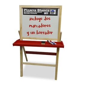 Pizarra Blanca De Pie Con Cajón De Madera Oferta