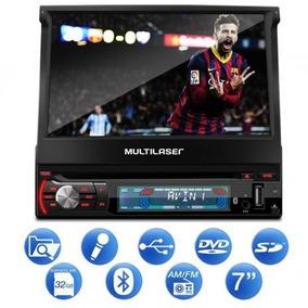 Dvd Player Multilaser Extr.+ Gp044 Retratil+7 +bluetooth+gps
