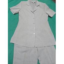 Hermoso Traje De Mujer Saco Pantalón De Vestir Usado Tale 40