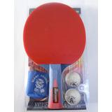 Raquete Tenis De Mesa Night Hawk +2 Bolas 3*+ Chaveiro
