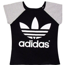Blusa Feminina Adidas Baby Look Excelente Qualidade