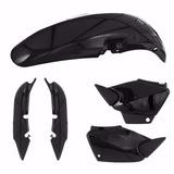 Kit Plasticos Honda Cg Titan Fan 125 Tork Negro Sin Calco