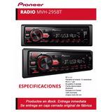 Stereo Pioneer Mvh 295 Bt + Pen Drive 16gb De Regalo