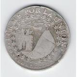 Moneda De 4 Reales Republica Sud Peruana Arequipa 1838 Plata
