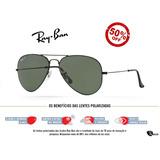 fa28163004bd0 Ray Ban 8033 Aviador Preto, Lente Verde G15!!! no Mercado Livre Brasil