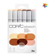 Copic Sketch Colores Piel Skin Set X6 Marcadores Rotuladores