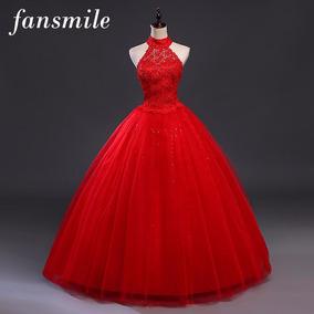 Vestido Noiva Vermelho Princesa Frete Grátis G Aproveite!