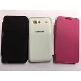 Case Flip + Película Plástico Samsung Galaxy S2 Lite I9070