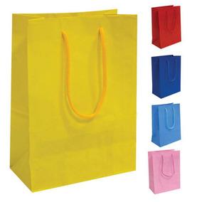 10 Sacolas De Papel Coloridas Presente 25x17x6cm Bolsa Festa