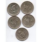 Moneda Antigua Mexico Plata 0.720 Balanza 1951, 1950 C7