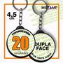 Chaveiro Dupla Face Personalizado 20 Pç 4,5cm Boton Botton