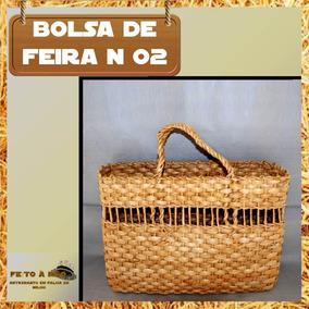 Kit 08 Bolsas De Feira Em Palha De Milho Nº 02 - Atacado
