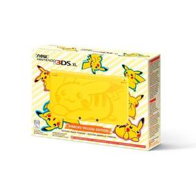 Nintendo New 3ds Xl Pikachu Yellow+fonte+luigi Mansion