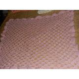 Mantilla Tejida Al Crochet De Gran Tamaño