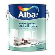Satinol Esmalte Sintético Blanco Satinado X 1 Litro Alba