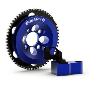 Polia Kit Roda Fônica Azul Vw Ap 16v Fueltech C/ Suporte